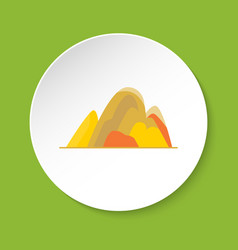hill icon in flat style vector image