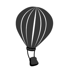 Hot air balloon theme design icon vector image