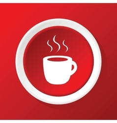 Hot drink icon on red vector