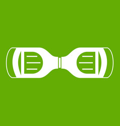 Hoverboard gyro pod top view icon green vector