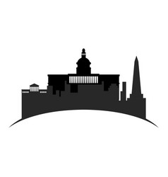 isolated cityscape of washington city vector image