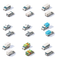 Isometric vans set vector