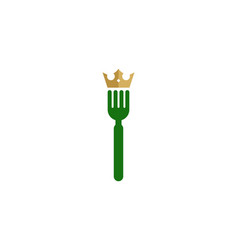 king food logo icon design vector image