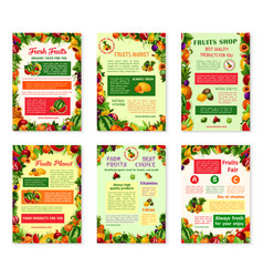 labels tropical exotic fruit juice icons vector image