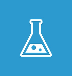 laboratory icon white on the blue background vector image