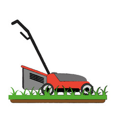 lawn mower garden tool vector image