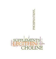 Lecithin supplements text background word cloud vector