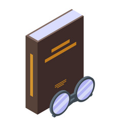 Literary book icon isometric style vector