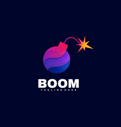 logo boom gradient colorful style vector image