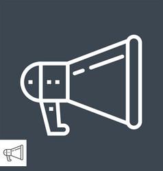 loudspeaker thin line icon vector image
