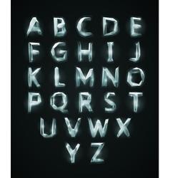 Low poly cristal alphabet font vector image