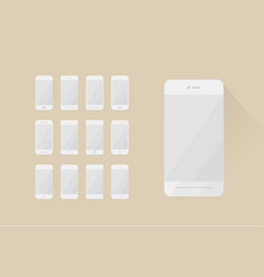minimalistic phones vector image