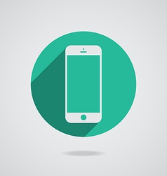 Mobile iphone in white line vector image