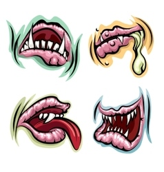 Monster Mouth Set vector