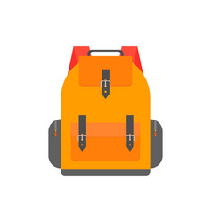 orange back pack for study schoolbag vector image