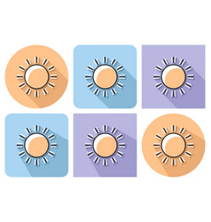 outlined icon of sun sunny weather with parallel vector image