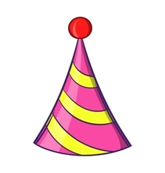 Party hat icon cartoon style vector image