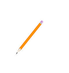 pencil flat design icon isolated on white vector image