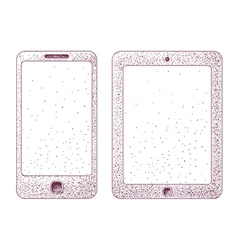 phone and tablet vector image
