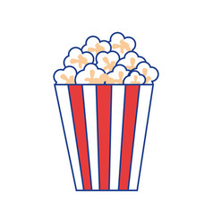 Pop corn snack vector