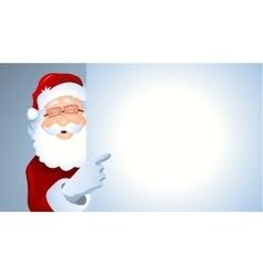 Portrait of Santa Claus showing billboard vector