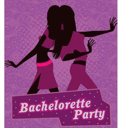 Poster for bachelorette party vector