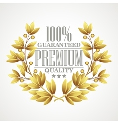 Premium quality golden laurel wreath vector