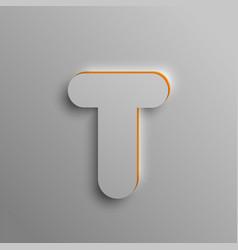 realistic 3d font vector image