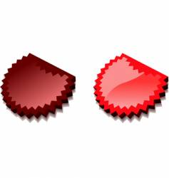 red 3d web icon illustration vector image