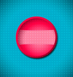 Red button frame vector image