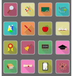 School education flat icons 20 vector