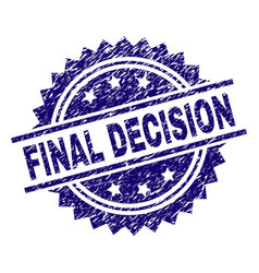 scratched textured final decision stamp seal vector image
