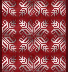 seamless flower knitting pattern vector image