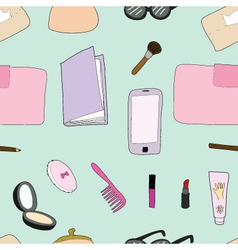 Seamless of Woman accessories vector image