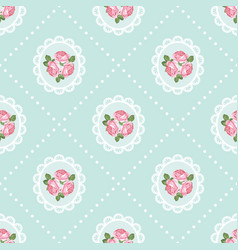 shabchic rose seamless pattern background vector image