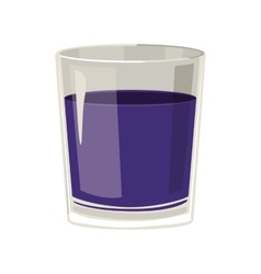 silhouette with drink in color purple vector image