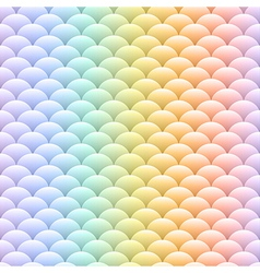 Simple blobs colored pastel rainbow background vector