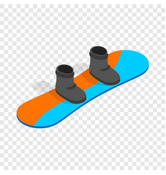 snowboard with boots isometric icon vector image