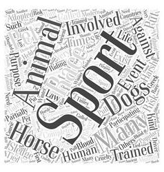Sports Pet Word Cloud Concept vector