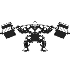Strong monkey athlete vector