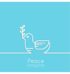 Symbol of peace dove vector image