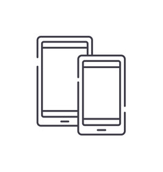 tablets line icon concept tablets linear vector image