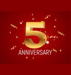 Template logo 5 years anniversary vector
