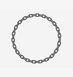 Texture chain round frame circle border chains vector