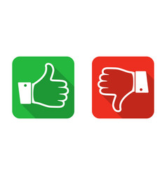 Thumb up and down icon vector