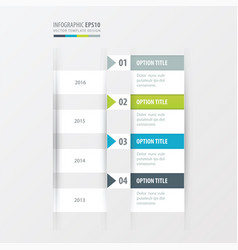 timeline green blue gray color vector image