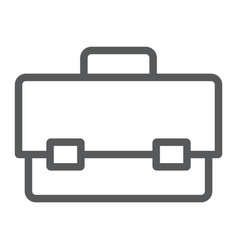 tool box line icon tool and maintenance vector image