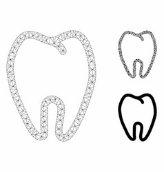 Tooth mesh network model and triangle vector