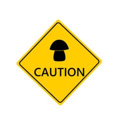 traffic sign for mushrooms on white vector image