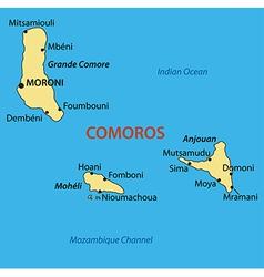Union of the comoros - map vector